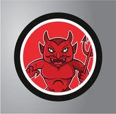 Devils Circle sticker — Stock Vector