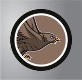 Eagles Circle sticker — Stock Vector