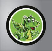 Dragons Circle sticker — Stock Vector