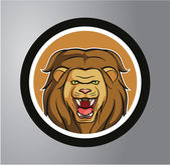 Lion Circle sticker — Stock Vector