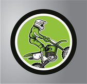 Motocross Circle sticker — Stockvector