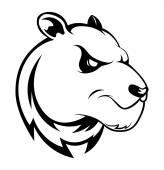 Panda symbol — Stock Vector