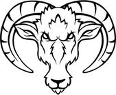 Ibex head — Stock Vector