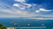 View of the sea and coast from the top of the mountain, gibraltar — Stockfoto
