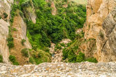 View of a cliff in ronda, spain — Stockfoto