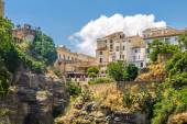 View of buildings over cliff in ronda, spain — Stock Photo