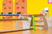 Bank upside down in indoor children's playground — Stock Photo