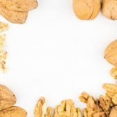 Walnuts on white background — Stock Photo