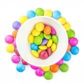 Wielobarwny słodki choco soczewica — Zdjęcie stockowe