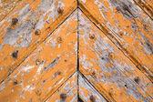 Old wooden door in vintage style — Stock Photo