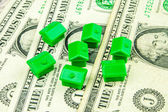 Inflation of prices in real estate business — Stock Photo