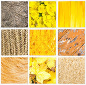 Mosaic of orange color shades in different style — Stock Photo