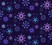 Figured Snowflakes Pattern — ストックベクタ
