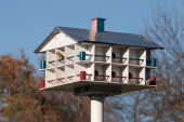 Birds hotel — Stock Photo