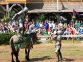 Joust at Renaissance Festival — Stock Photo