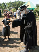 A man in plague doctor costume at Renaissance Festival — Stock Photo