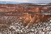 Cook Ovens sandstone formations in Colorado National Monument, C — Stock Photo