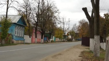 Borovsk: streets (real life in regular russian provincial city) — Stock Video