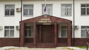 Borovsk: court house, short distance (real life in regular russian provincial city) — Stock Video