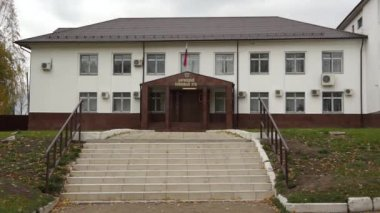 Borovsk: court house (real life in regular russian provincial city) — Stock Video