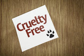 Cruelty Free on Paper Note on texture background — Stock Photo