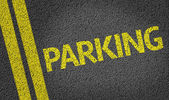Parking written on the road — Stock Photo