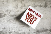 New Year New You on Paper Note on texture background — Stock Photo