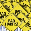Bad Habits! written on multiple road sign — Stock Photo #54394353