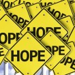 Hope written on multiple road sign — Stock Photo #54395909