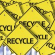 Recycle written on multiple road sign — Stock Photo #54397017