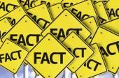 Fact written on multiple road sign — Stock Photo