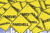 Farewell written on multiple road sign — Stock Photo