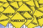 Forecast written on multiple road sign — Stock Photo