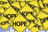Hope written on multiple road sign — Stock Photo
