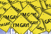 I'm Gay! written on multiple road sign — Stock Photo