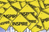 Inspire written on multiple road sign — Stock Photo