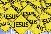 Jesus written on multiple road sign — Stock Photo