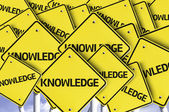 Knowledge written on multiple road sign — Stock Photo