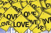 Love written on multiple road sign — Stock Photo