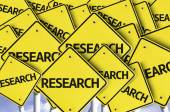 Research written on multiple road sign — Stock Photo