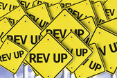 Rev Up written on multiple road sign — Stock Photo