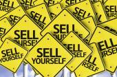 Sell Yourself written on multiple road sign — Stock Photo