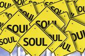 Soul written on multiple road sign — Stock Photo