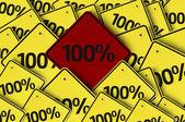 100 written on multiple road sign — Stock Photo