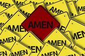 Amen written on multiple road sign — Stock Photo