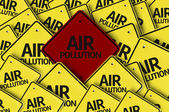 Air Pollution written on multiple road sign — Stock Photo