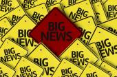 Big News written on multiple road sign — Stock Photo