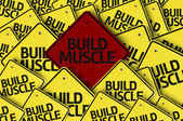 Build Muscle written on multiple road sign — Stock Photo
