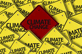 Climate Change written on multiple road sign — Stock Photo