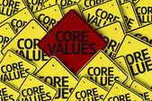 Core Values written on multiple road sign — Stock Photo